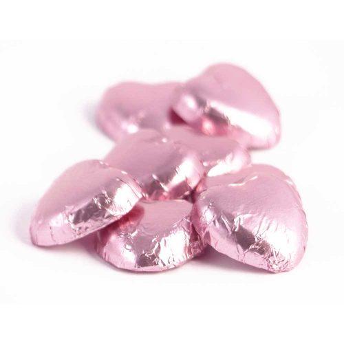 inimi-ciocolata-lapte-staniol-roz